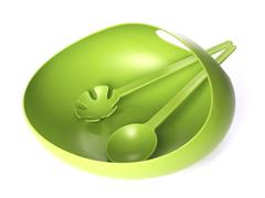 Salad Bowl & Servers Green