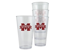Miss. St Plastic Pint Glasses 4-Pk