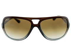Aviator Sunglasses, Brown/Crystal