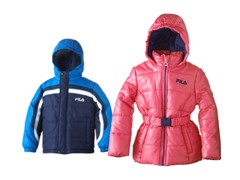 Boy & Girl Fila Puffer Jackets -4 Styles