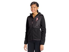 USPA Jrs Hooded Polar Fleece Jacket, Blk
