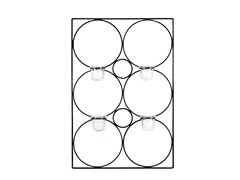 Geo Candle Wall Decor