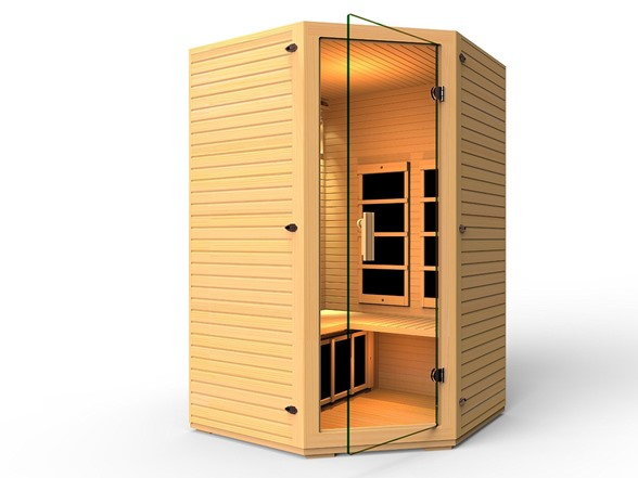 JNH Lifestyles 2-3 Person Corner Infrared Sauna