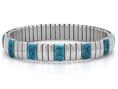 Stretch Bracelet w/ Blue Glitter Accent