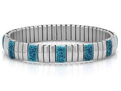 Stretch Bracelet w/ Blue Glitter Accent