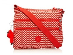 Kipling Alvar Crossbody Travel Bag, Chevron Red