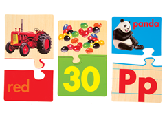 Match 'N Snap Wooden Puzzle Cards