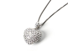 Swarovski Element Heart Pendant