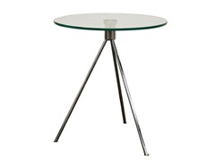 Triplet Round Glass Top Table