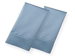 800TC 100% Cotton Pillowcases-S/2-Blue-2 Sizes