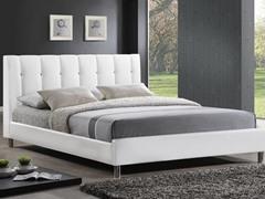 Vino White Modern Bed