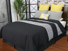 Greek Key 5-Piece Queen Comforter Set