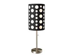 "33"" Black-White Table Lamp"