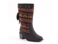 MUK LUKS® Carla Tall Chunky Heel Boot, Black