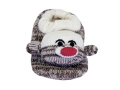 Sock Monkey Slipper (Infant & Toddler)
