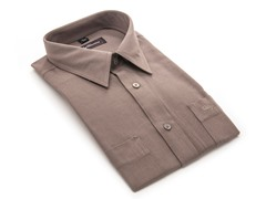 Oleg Cassini Men's Dress Shirt, Brown