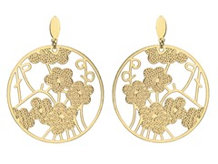 18kt Gold Plated Tree of Flower Earrings