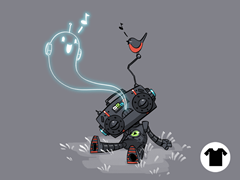 Cute Music Robot Ghost