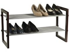 Household Essentials Two-Tier Shoe Rack