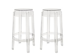 Counter Stool Clear Set of 2