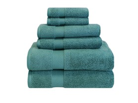 Superior 100% Zero Twist Cotton 6-Piece Towel Set