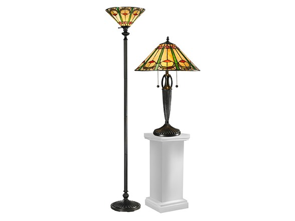 dale tiffany tc12340 quill combo table floor lamp set. Black Bedroom Furniture Sets. Home Design Ideas