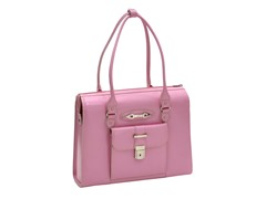 River Forest Leather Ladies' Briefcase - Pink