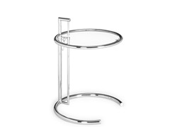 Eileen Gray Side Table Clear Glass