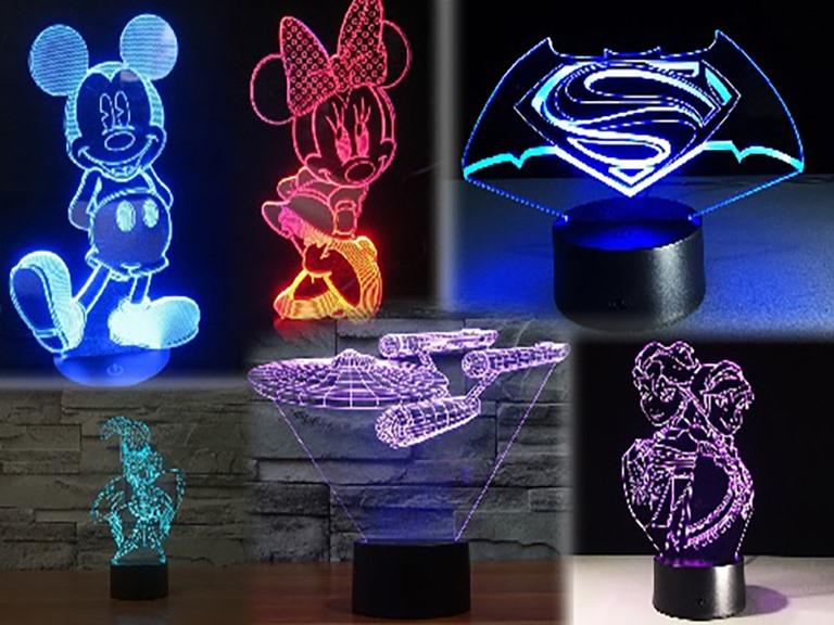 3D Illusion Decorative Lights