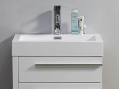 "24"" Bailey: Single Sink Bathroom Vanity- White"