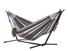 Double Hammock with Steel Stand, Desert Moon