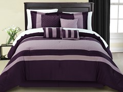 Diamante 8Pc Set-Plum-2 Sizes