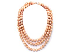 SS Peach Endless Pearl Necklace