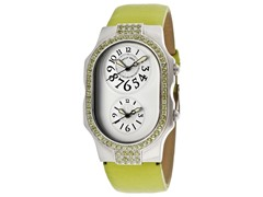 Women's Dual Time Light Silver Dial Watch
