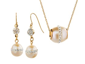 14kt Gold & Pearl w/ Swarovski Crystals - Your Choice