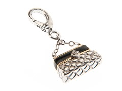 14Kt Gold, SS, Onyx Hand Bag Charm