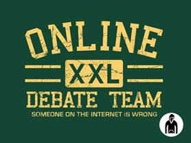 Online Debate Team Pullover Hoodie