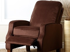 Brently Pushback Recliner, Chocolate