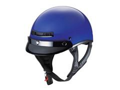 GLX Gloss Blue Half Helmet