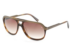 V767 Sunglasses, Brown Horn