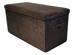 Folding Storage Bench- Brown