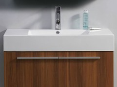 """36"""" Midori: Single Sink Bathroom Vanity- Plum"""