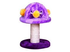 "Mushroom Shaped Scratching Post w/Sisal 11"" H"
