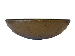 Crackled Glass Vessel Sink, Bronze