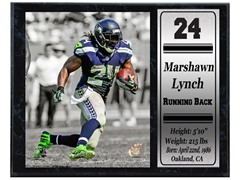 12x15 Stat Plaque - M. Lynch Seahawks