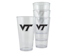 Virginia Tech Plastic Pint Glasses 4-Pk