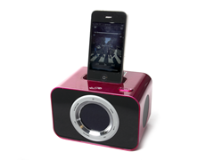 iLive Pink Clock Radio with 30-pin Dock