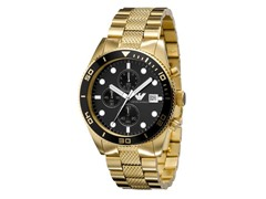 Mens Gold Plate Chronograph