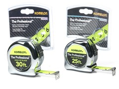 Komelon Tape Measures, Chrome - Your Choice