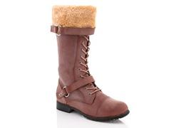 Rasolli Fur Cuff Boots